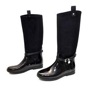 MICHAEL Michael Kors Black Rubber Rain Boots